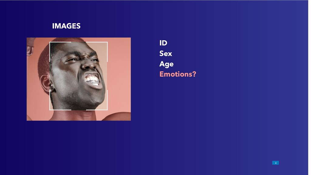 !4 IMAGES ID Sex Age Emotions?