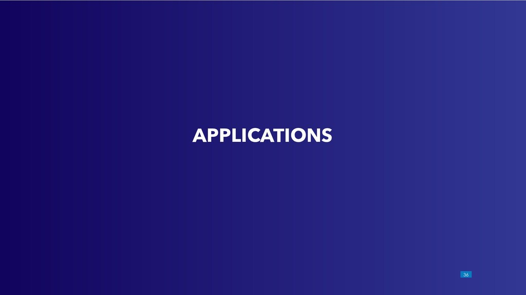 !36 APPLICATIONS