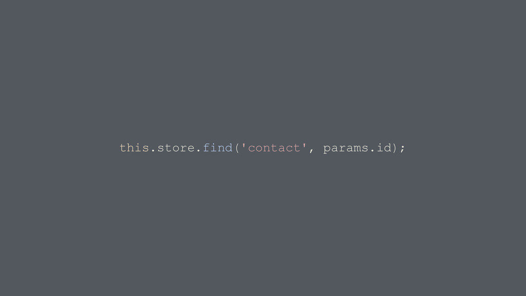 this.store.find('contact', params.id);