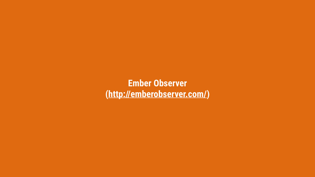 Ember Observer (http://emberobserver.com/)