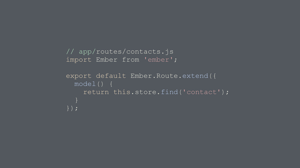 // app/routes/contacts.js import Ember from 'em...