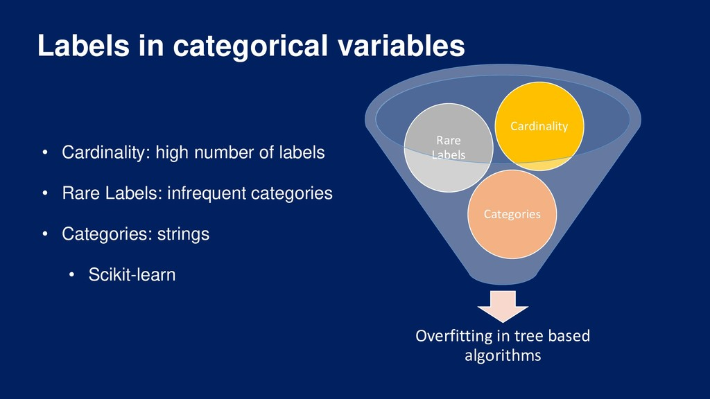 Labels in categorical variables Overfitting in ...