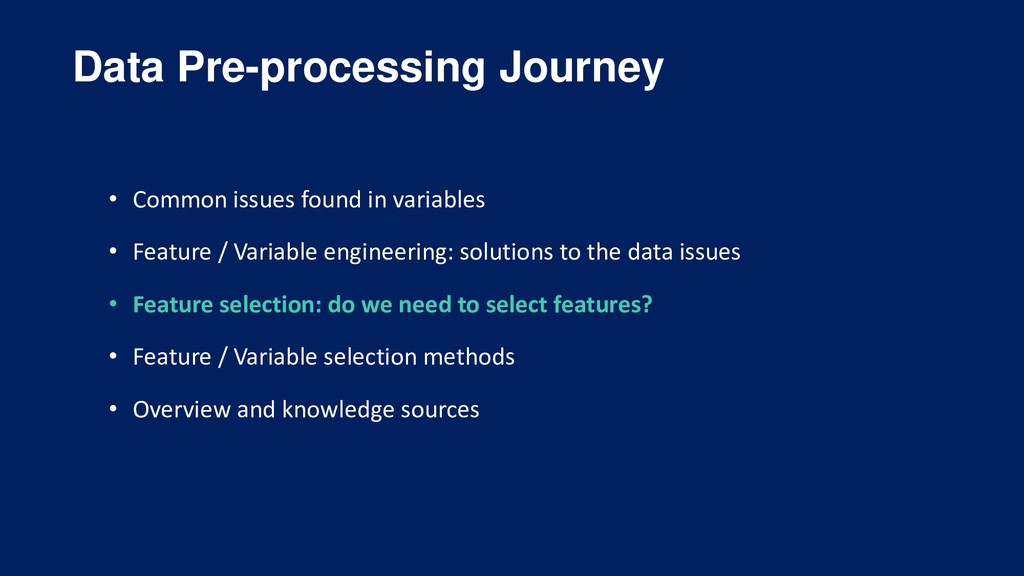 Data Pre-processing Journey • Common issues fou...