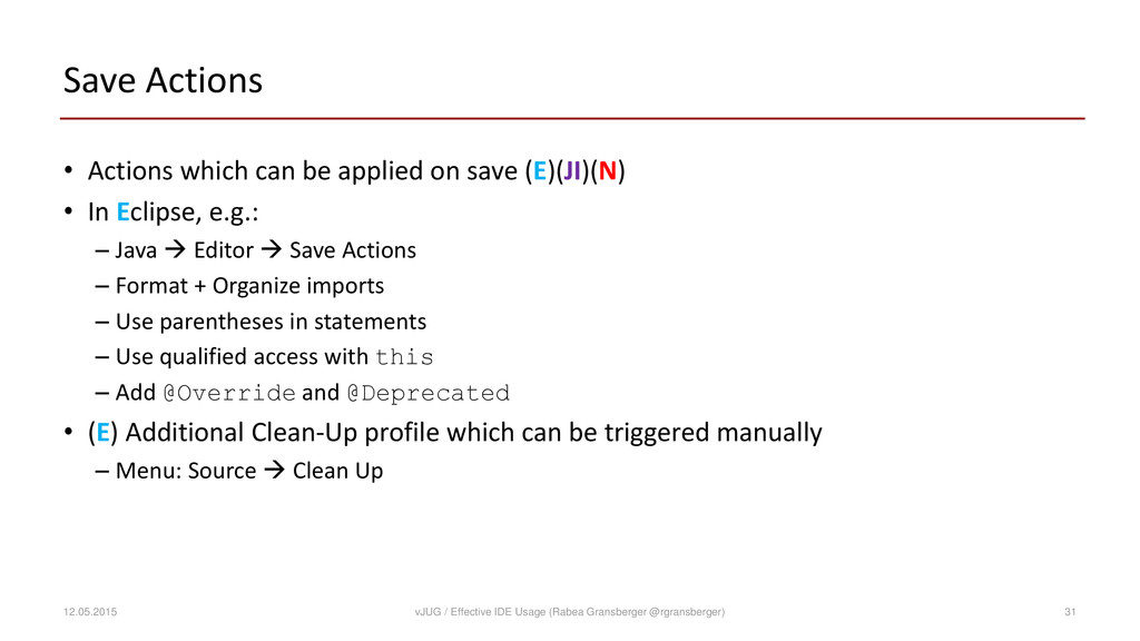 Save Actions • Actions which can be applied on ...