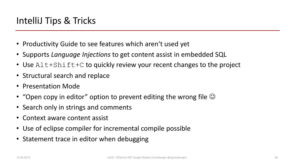 IntelliJ Tips & Tricks • Productivity Guide to ...
