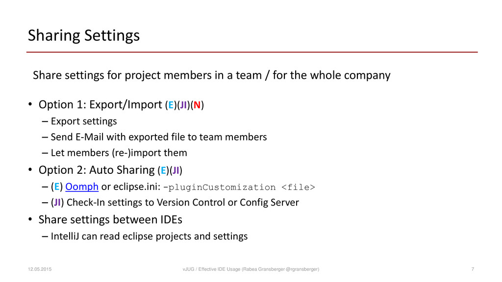Sharing Settings Share settings for project mem...