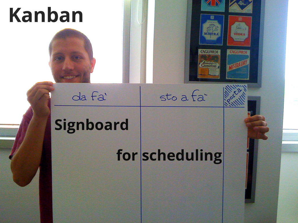 Kanban Signboard for scheduling