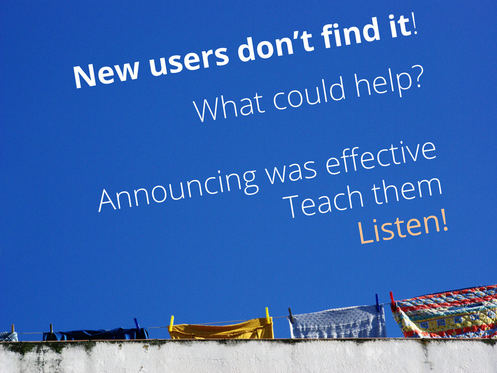 What could help? Announcing was effective Teach ...