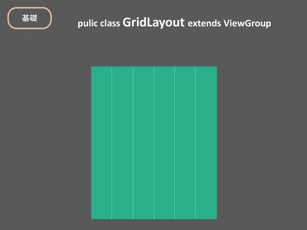 pulic class GridLayout extends ViewGroup جૅ
