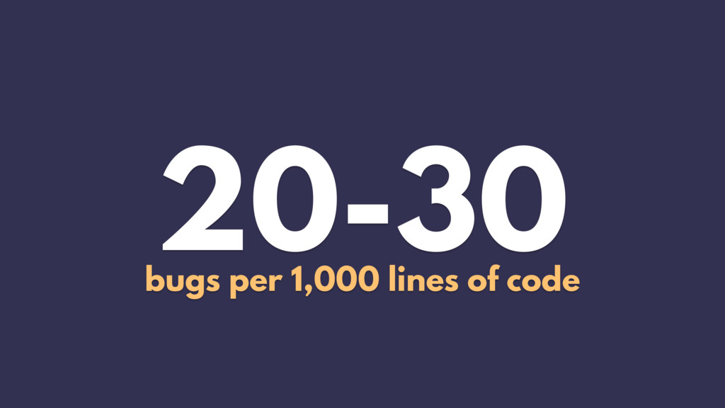 20-30 bugs per 1,000 lines of code