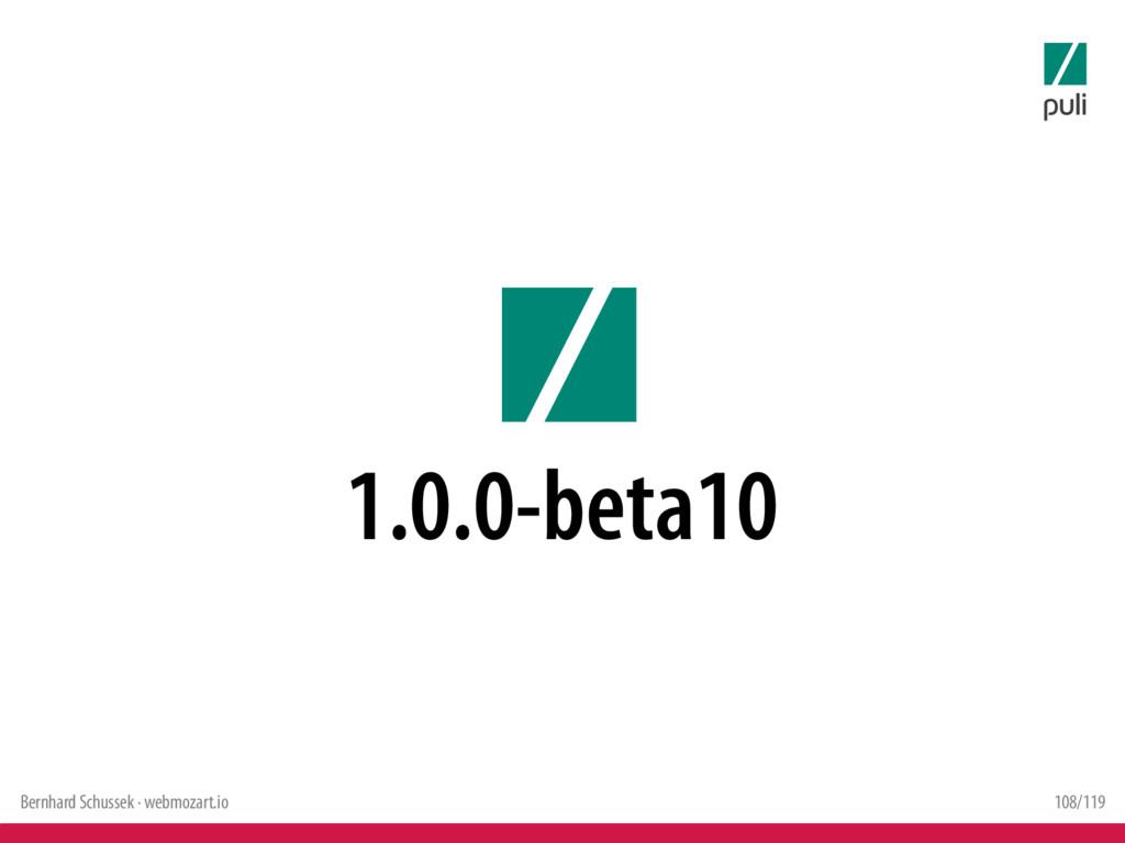 Bernhard Schussek · webmozart.io 108/119 1.0.0-...