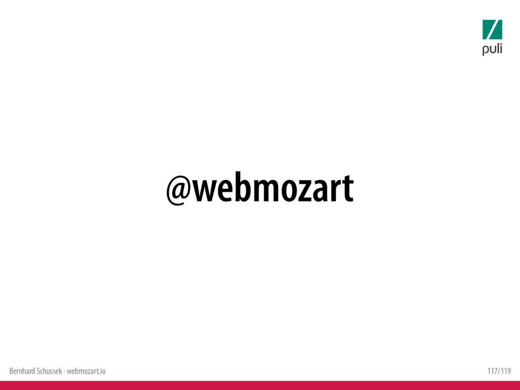 Bernhard Schussek · webmozart.io 117/119 @webmo...