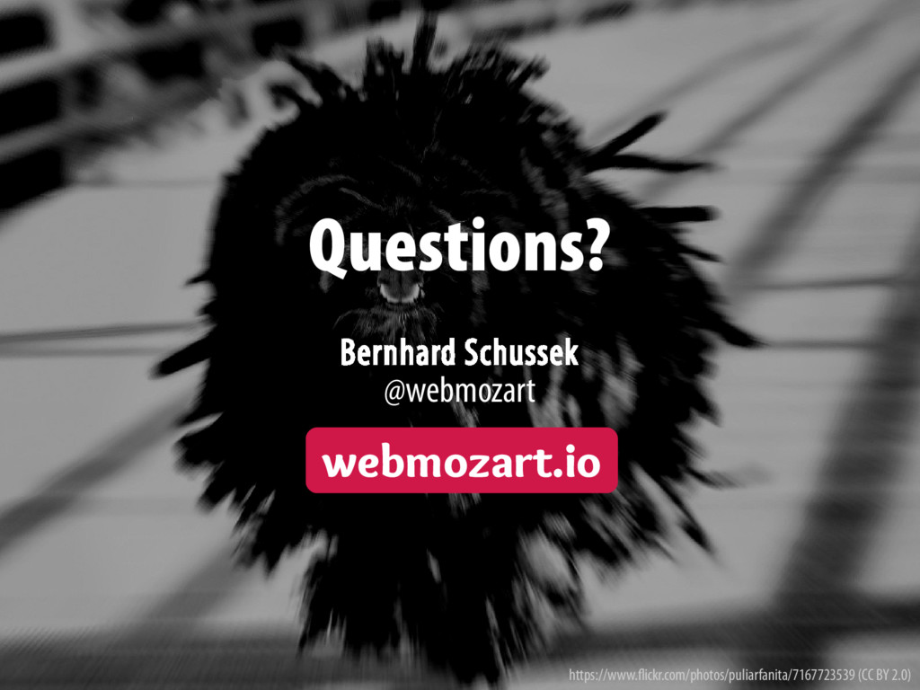 Bernhard Schussek · webmozart.io 119/119 Questi...