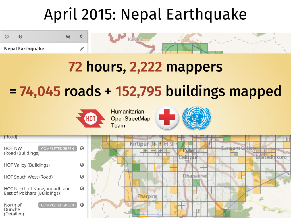 April 2015: Nepal Earthquake 72 hours, 2,222 ma...