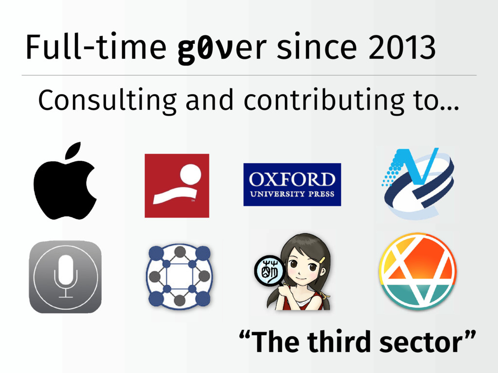 """The third sector"" Full-time g0ver since 2013 C..."