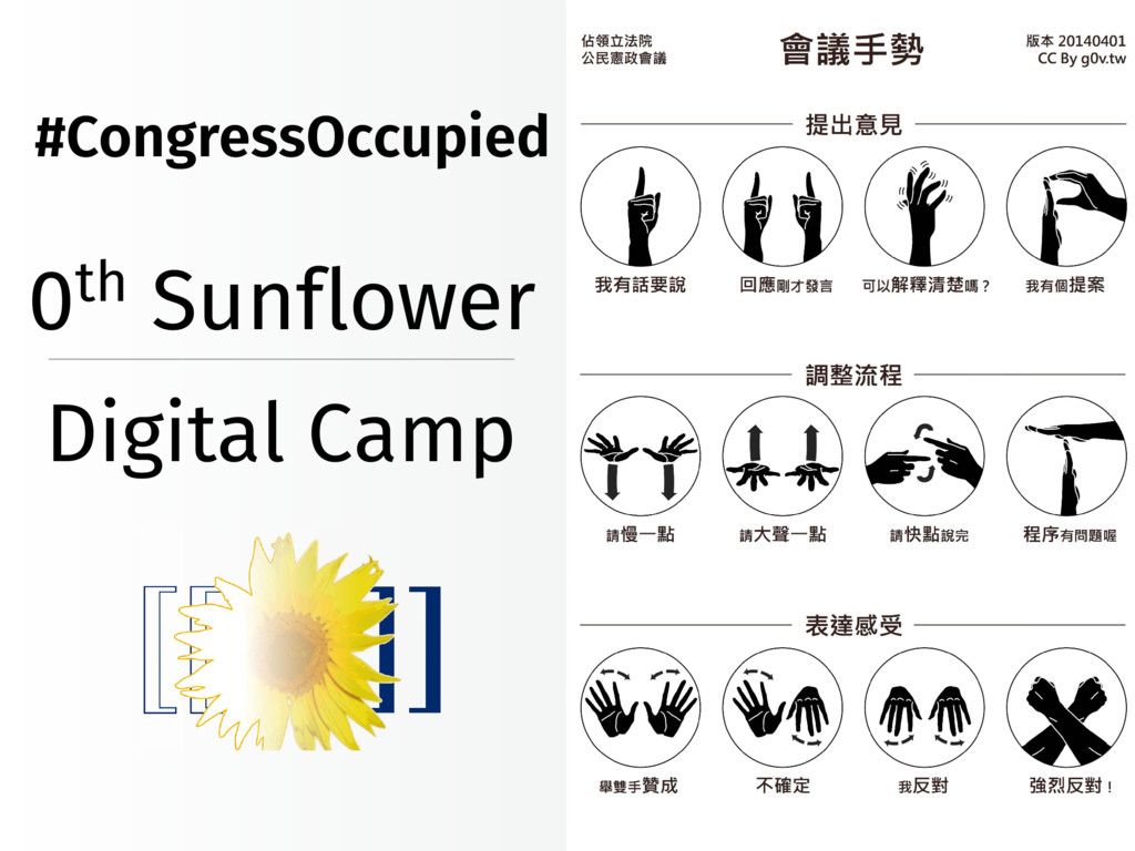 0th Sunflower Digital Camp #CongressOccupied
