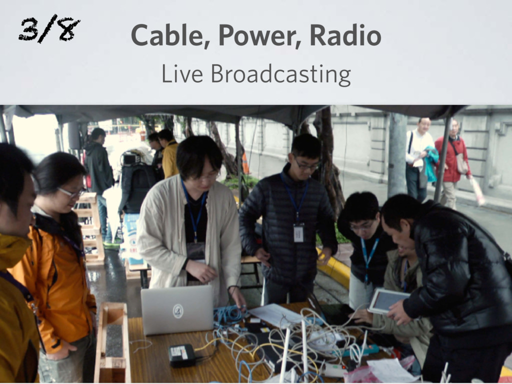 Cable, Power, Radio Live Broadcasting 3/8