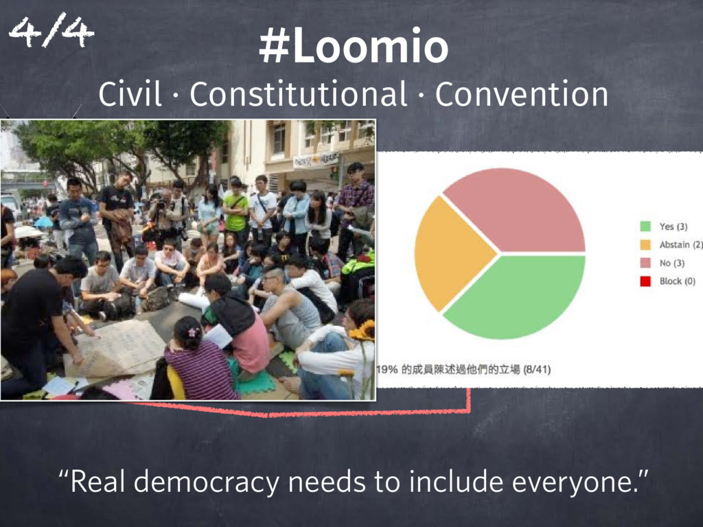 "#Loomio ""Real democracy needs to include ev..."