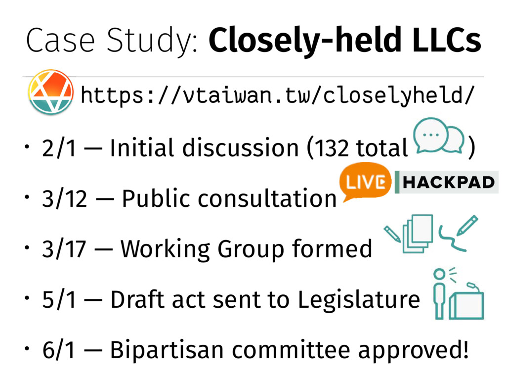 Case Study: Closely-held LLCs https://vtaiwan.t...