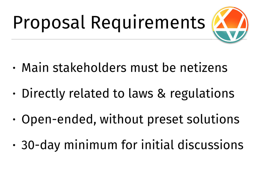 Proposal Requirements � Main stakeholders must ...