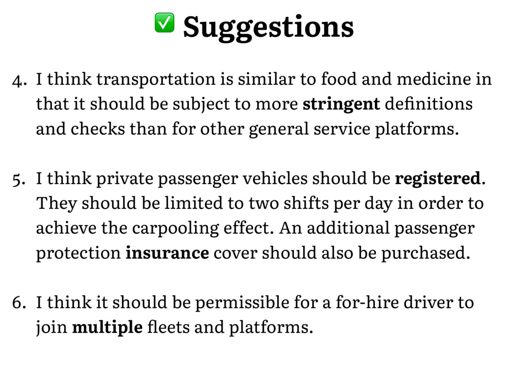 � Suggestions 4. I think transportation is simi...