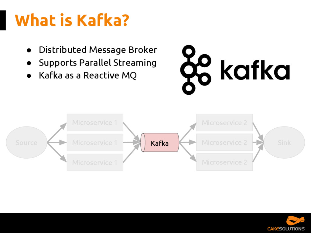 What is Kafka? ● Distributed Message Broker ● S...