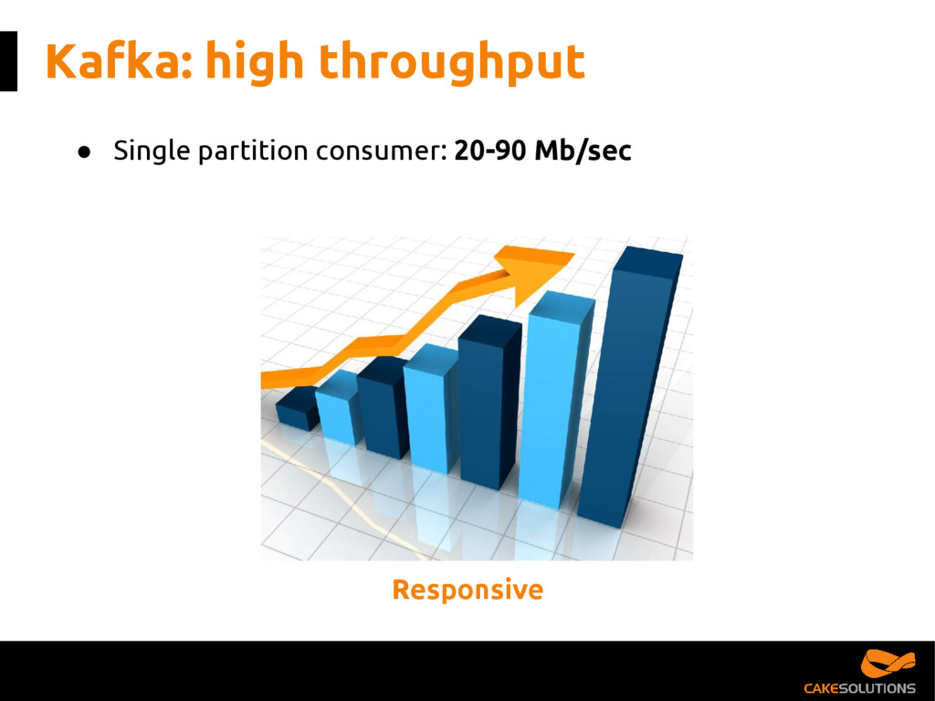 Kafka: high throughput ● Single partition consu...