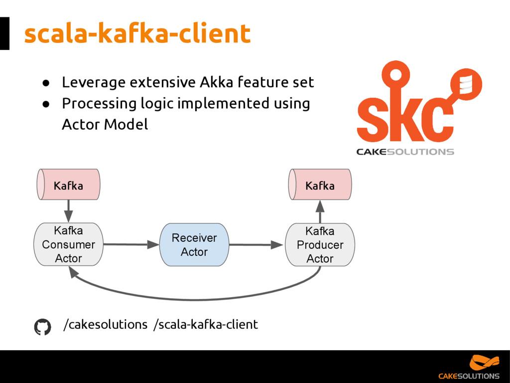 scala-kafka-client ● Leverage extensive Akka fe...