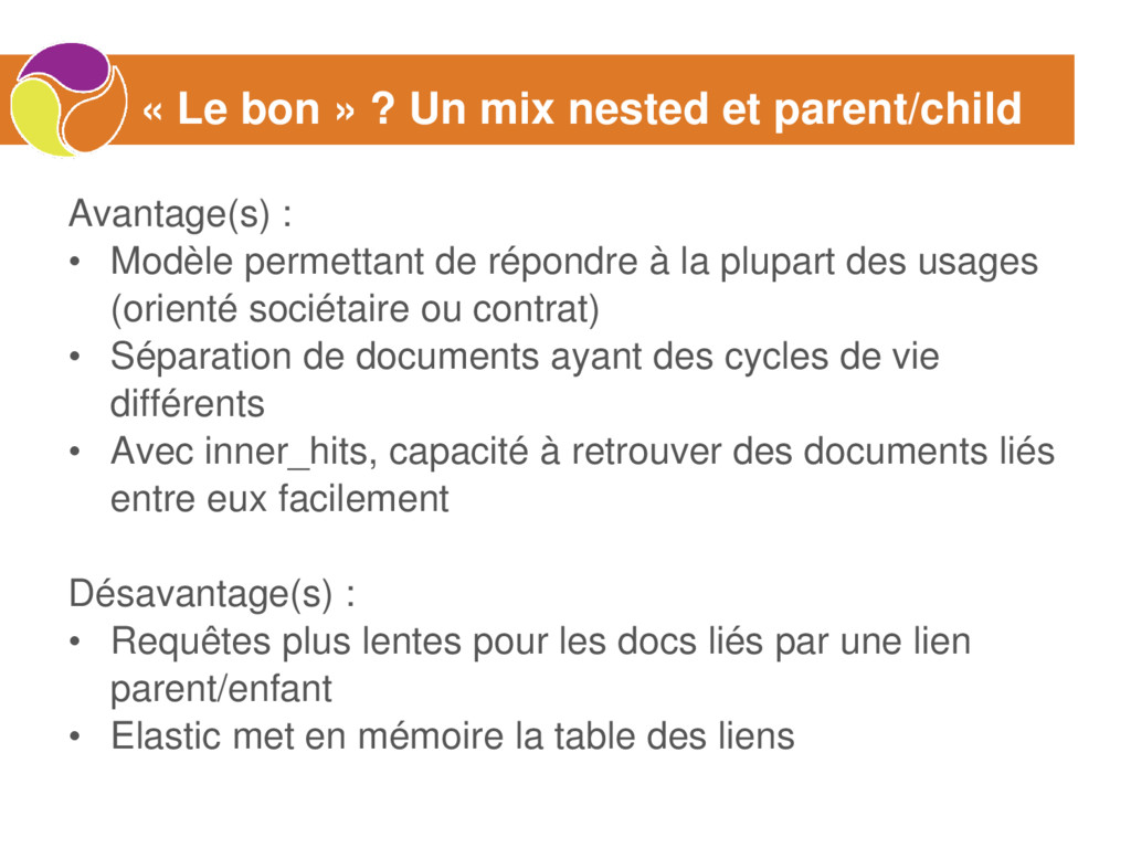 « Le bon » ? Un mix nested et parent/child Avan...