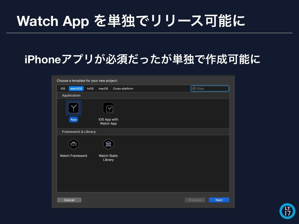 Watch App Λ୯ಠͰϦϦʔεՄʹ LT 17 iPhoneΞϓϦ͕ඞਢ͕ͩͬͨ୯ಠͰ...