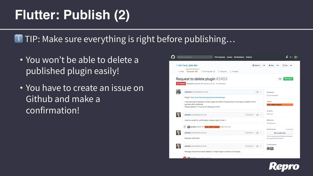 • You won't be able to delete a published plugi...