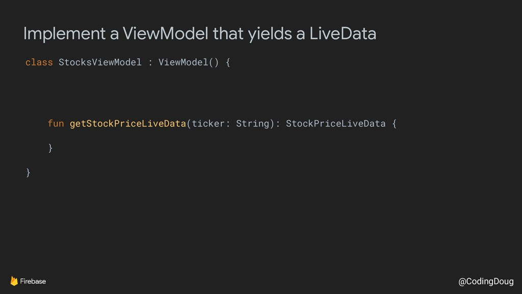 @CodingDoug Implement a ViewModel that yields a...