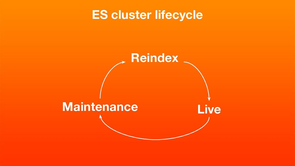 ES cluster lifecycle Reindex Live Maintenance