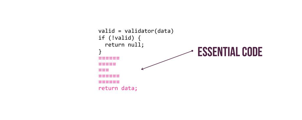 valid = validator(data)  if (!valid...