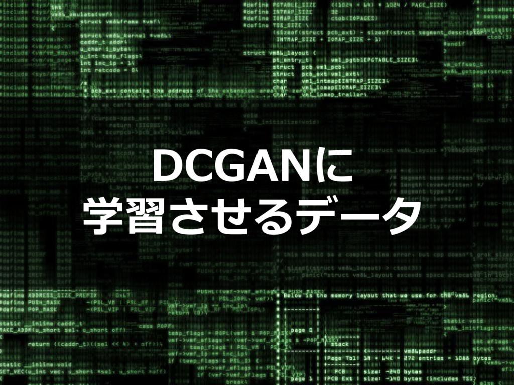 DCGANに 学習させるデータ