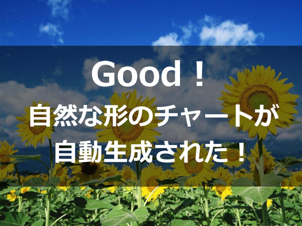 Good! 自然な形のチャートが 自動生成された!
