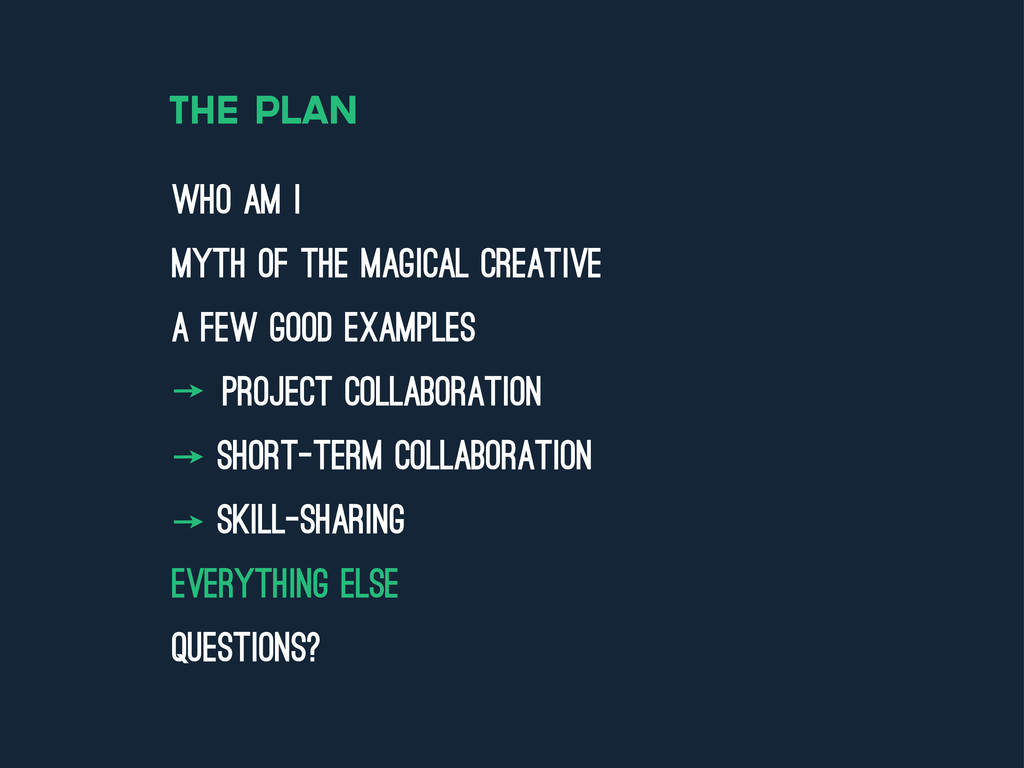 the plan who am i myth of the magical creative ...