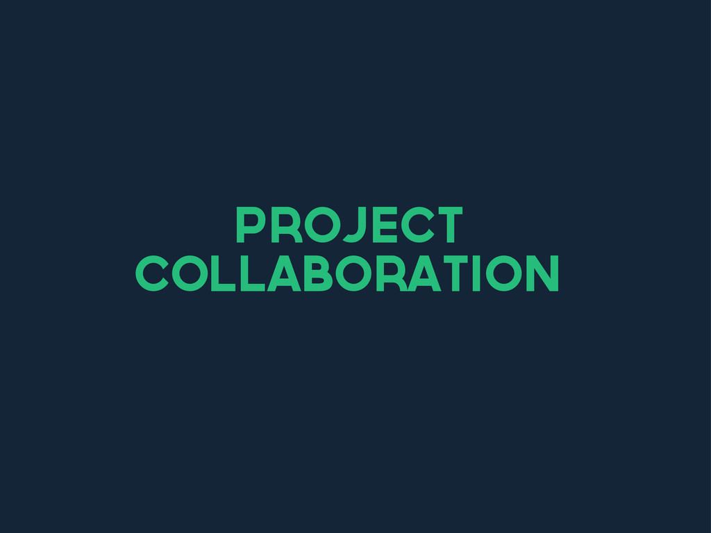 project collaboration