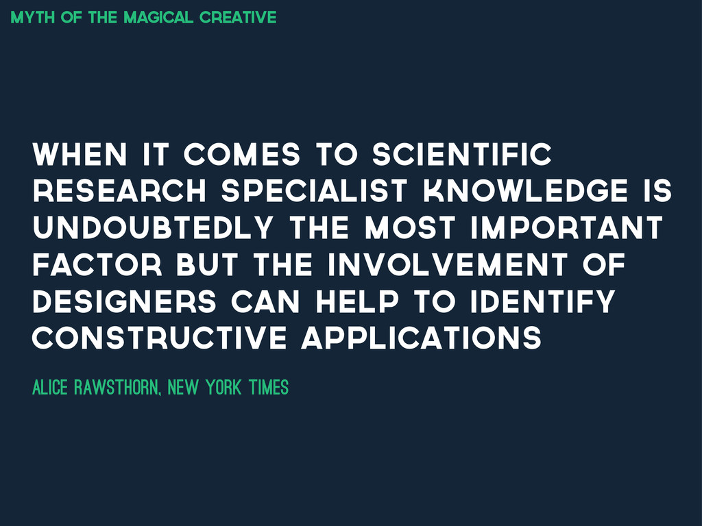 myth of the magical creative when it comes to s...