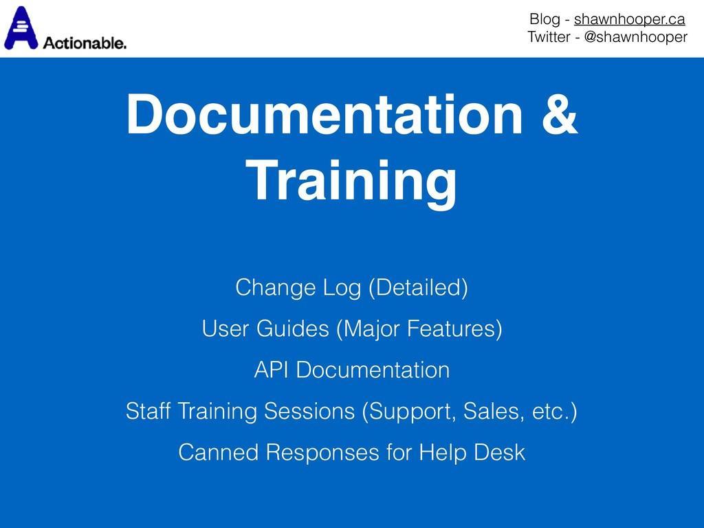 Documentation & Training Blog - shawnhooper.ca...
