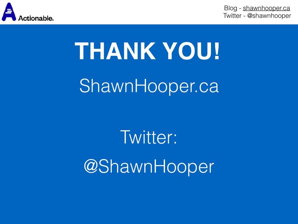 ShawnHooper.ca  Twitter: @ShawnHooper THANK YO...