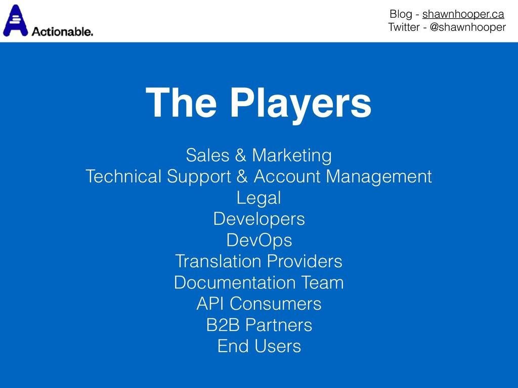 The Players Blog - shawnhooper.ca Twitter - @s...