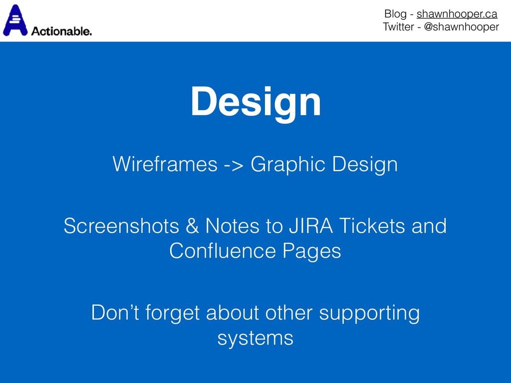 Design Blog - shawnhooper.ca Twitter - @shawnh...