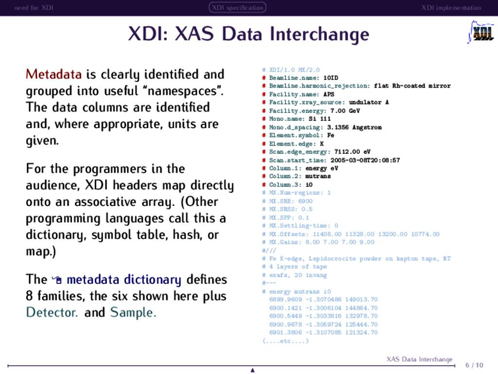 need for XDI XDI specification XDI implementatio...