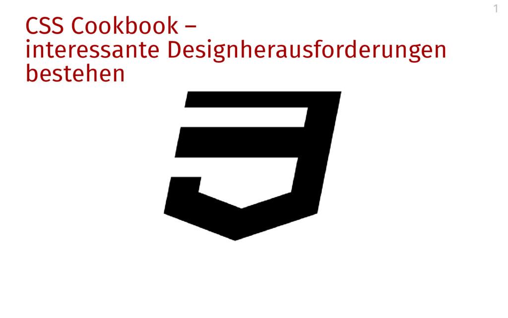 CSS Cookbook – interessante Designherausforderu...