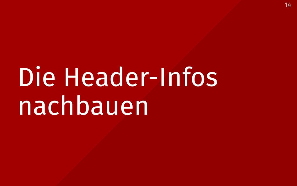 Die Header-Infos nachbauen 14