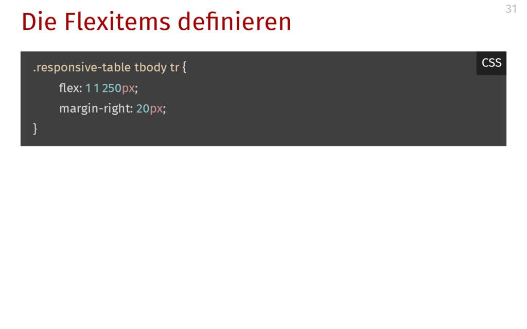 Die Flexitems de nieren .responsive-table tbody...
