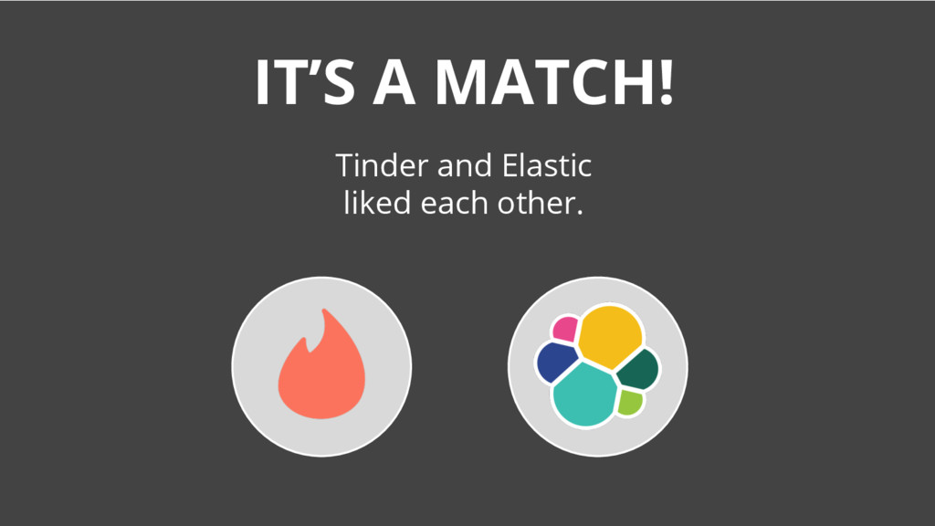 IT'S A MATCH! Tinder and Elastic liked each oth...
