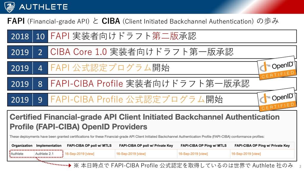2 2018 10 FAPI 実装者向けドラフト第⼆版承認 FAPI (Financial-g...