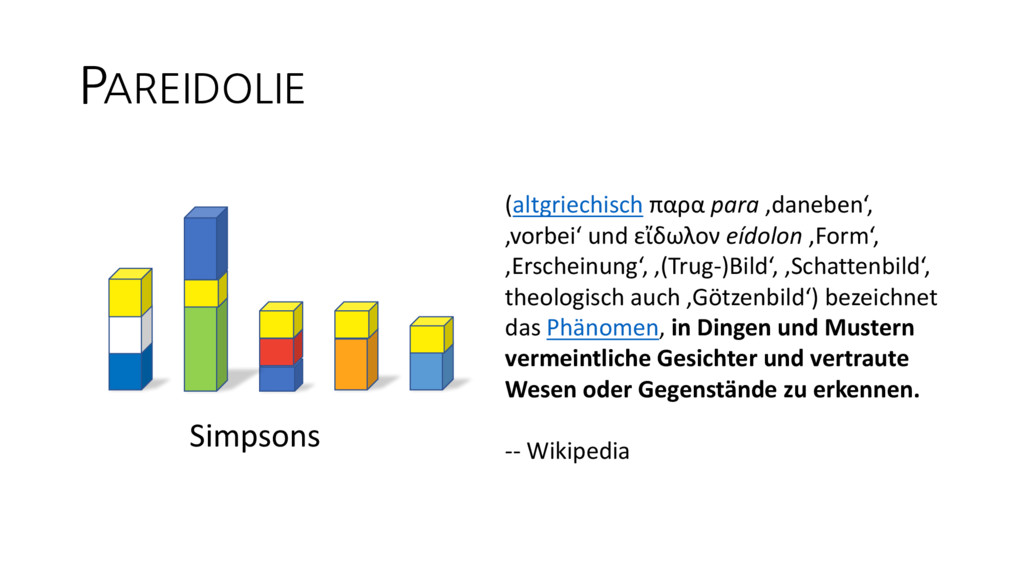 PAREIDOLIE Simpsons (altgriechisch παρα para 'd...